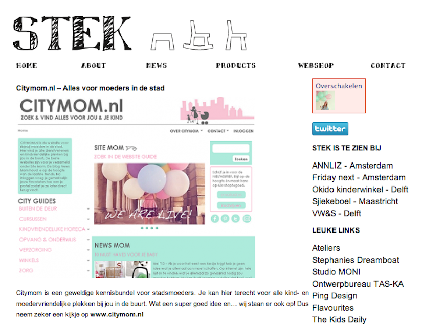 CITYMOM op http://aboutstek.nl