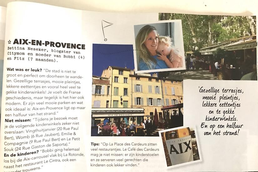 Stuk over kindvriendelijk Frankrijk in Fabulous Mama & Family oktober 2016