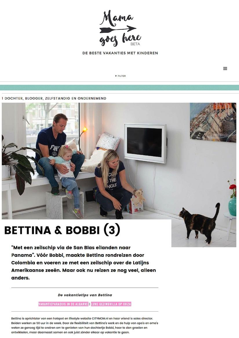 CITYMOM geeft tips op de nieuwe reiswebsite voor ouders: MamaGoesThere