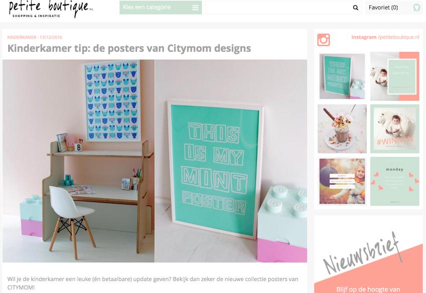 Blog over CITYMOM Designs op Petite Boutique