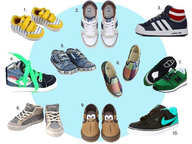 BOYS sneakers MOODBOARD IN