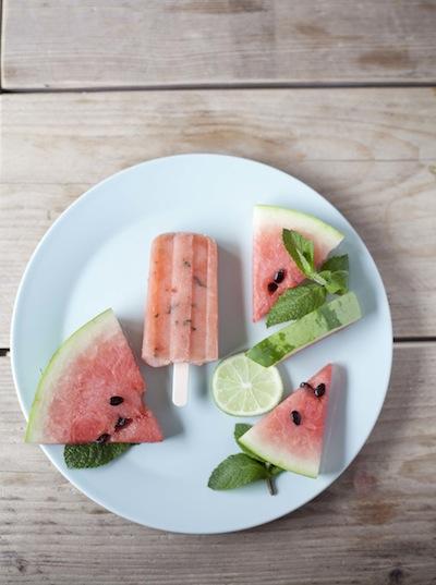 watermeloen ijsje bord