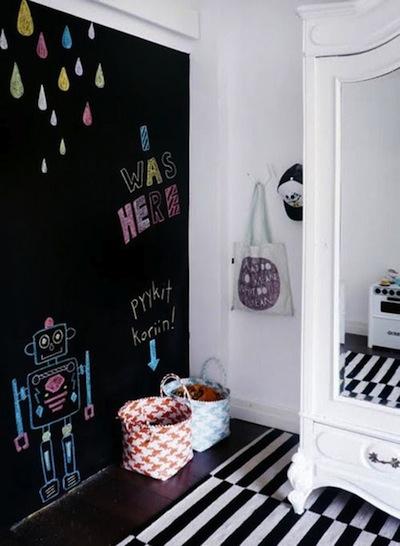Tien ideeën voor de muur van de kinderkamer