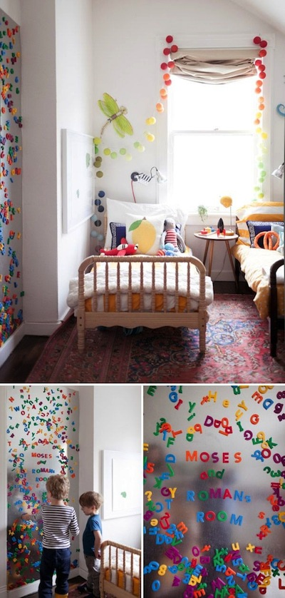 Magneten http::ohhappyday.com:2013:04:our-500-sq-ft-apartment-the-kids-room: