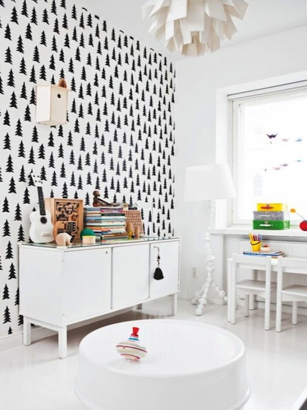 Inspiratie behang kinderkamer - Comment decorer un grand mur blanc ...