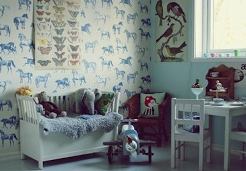 INSPIRATIE BEHANG KINDERKAMER