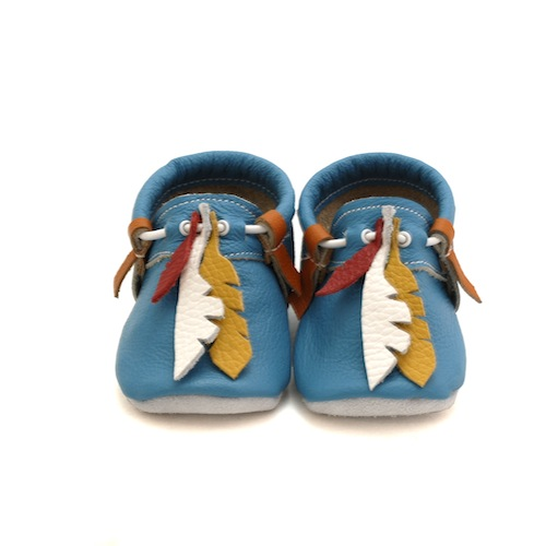 First Baby Shoes just introduced their baby moccasins made with 100% natural very soft leather.