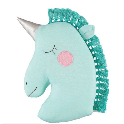 Oh YES we NEED a Unicorn Pillow! Via MiniXStyle