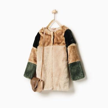 Je girl gaat warm de winter in met de mooie ZARA jas.