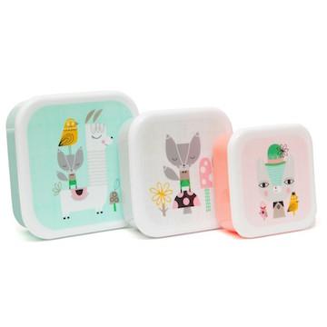 In stijl naar school met deze lunchbox set van Petit Monkey. Verkrijgbaar bij PSikhouvanjou.
