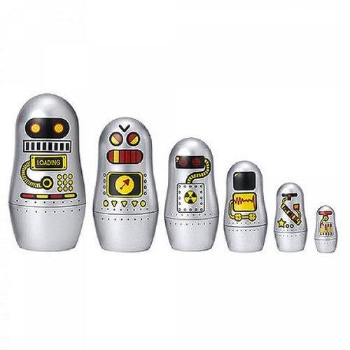 This charming set of 6 nesting dolls was designed by Swedish illustrator Ingela Arrhenius for OMM Design.