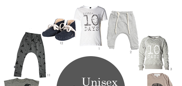 Unisex Clothes; 12 top items