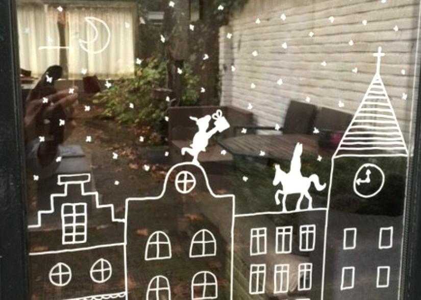 DIY Sinterklaas Raamversiering