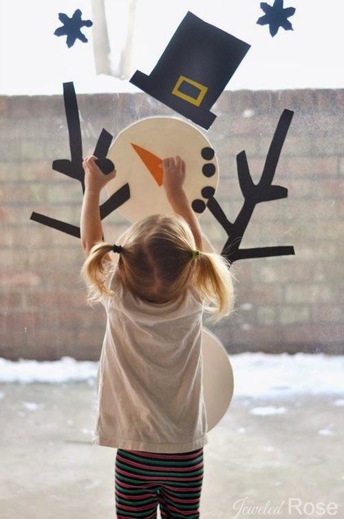 Maar een sneeuwman via: growingajeweledrose.com