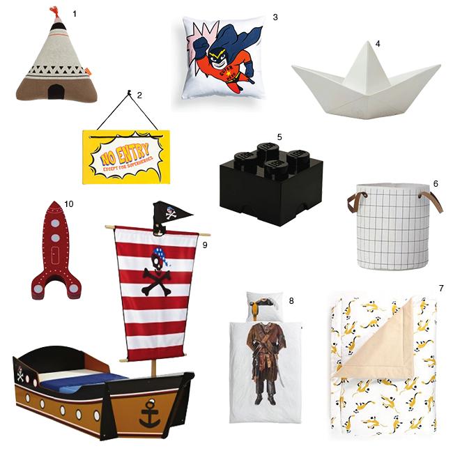 Accessoires voor een stoere jongenskamer - Kamer decoratie jongen jaar ...