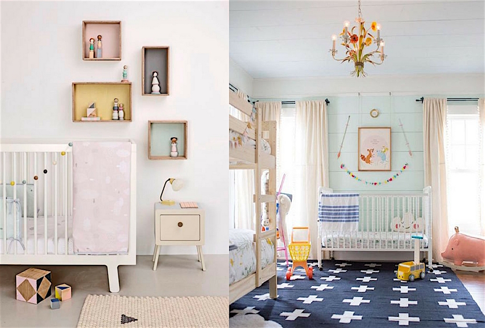 Poster Babykamer Pastel : 12x eclectic nurseries with a touch of pastel