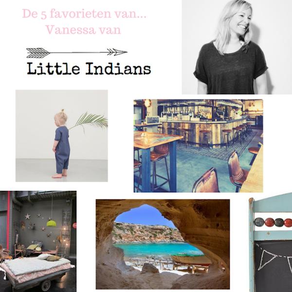 De 5 favorieten van Vanessa van Little Indians www.citymom.nl