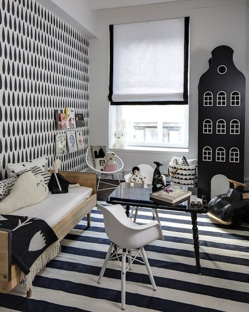 monochrome kids room inspiration CITYMOM.nl 3