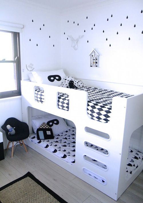 monochrome kids room inspiration CITYMOM.nl 6
