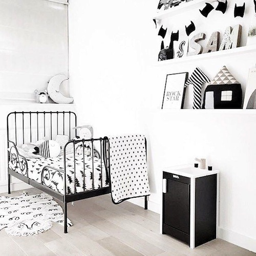 monochrome kids room inspiration CITYMOM.nl 7