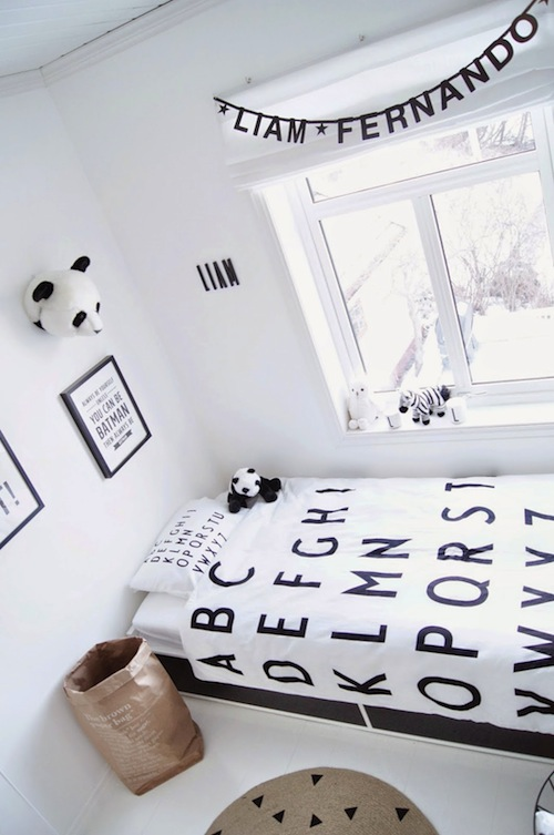 monochrome kids room inspiration CITYMOM.nl