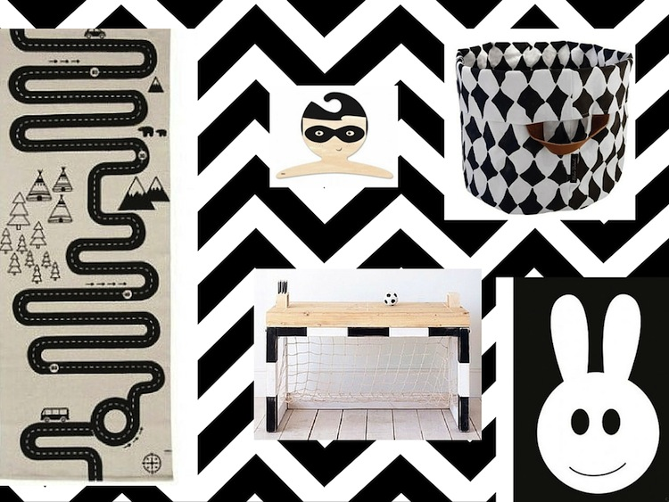 Zwart Wit Kinderslaapkamer : Zwart witte kinderkamer accessoires