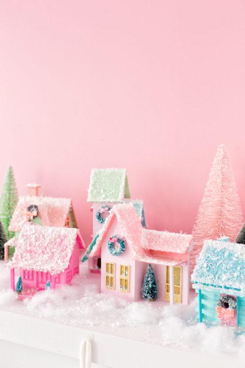 DIY-Colorful-Christmas-Village-11-600x900