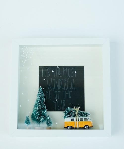 Een fotolijst in kerstsfeer via youaremyfave