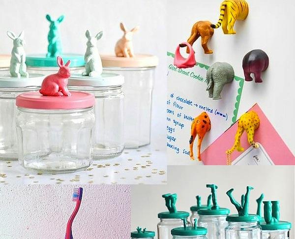 5 x DIY MET PLASTIC SPEELGOED DIERTJES