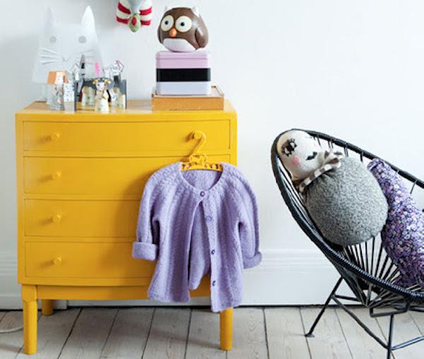 9x Gele Kast In De Kinderkamer