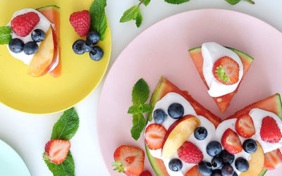FRUITPIZZA; PERFECTE ZOMERSE SNACK