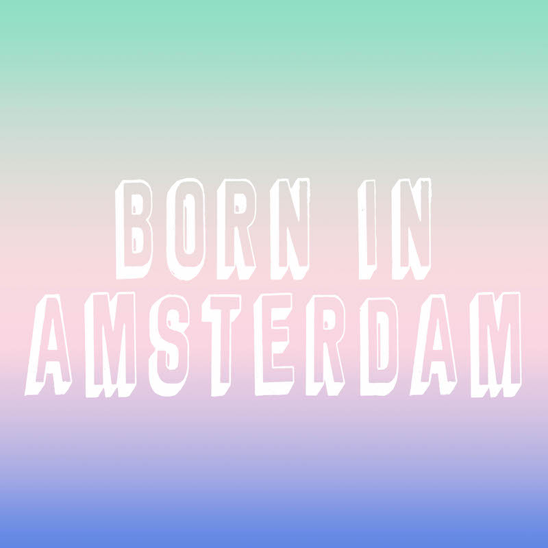 Born in Amsterdam Poster CITYMOM Designs