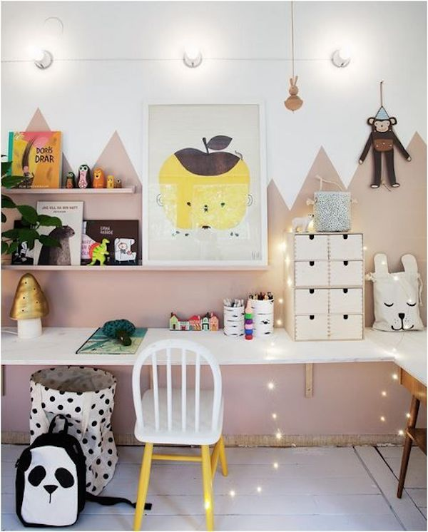 25 Kids Study Room Designs Decorating Ideas: 12 X KINDERKAMER MET BERGEN THEMA