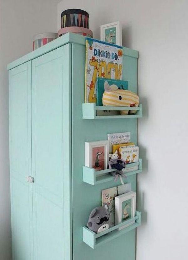 8 x ikea hack boekenplank van kruidenrek for Papel adhesivo para muebles ikea