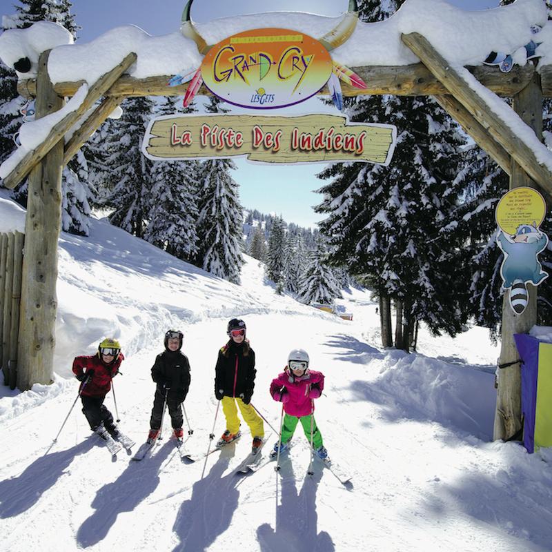 Kindvriendelijke skigebied Les Gets Frankrijk 1