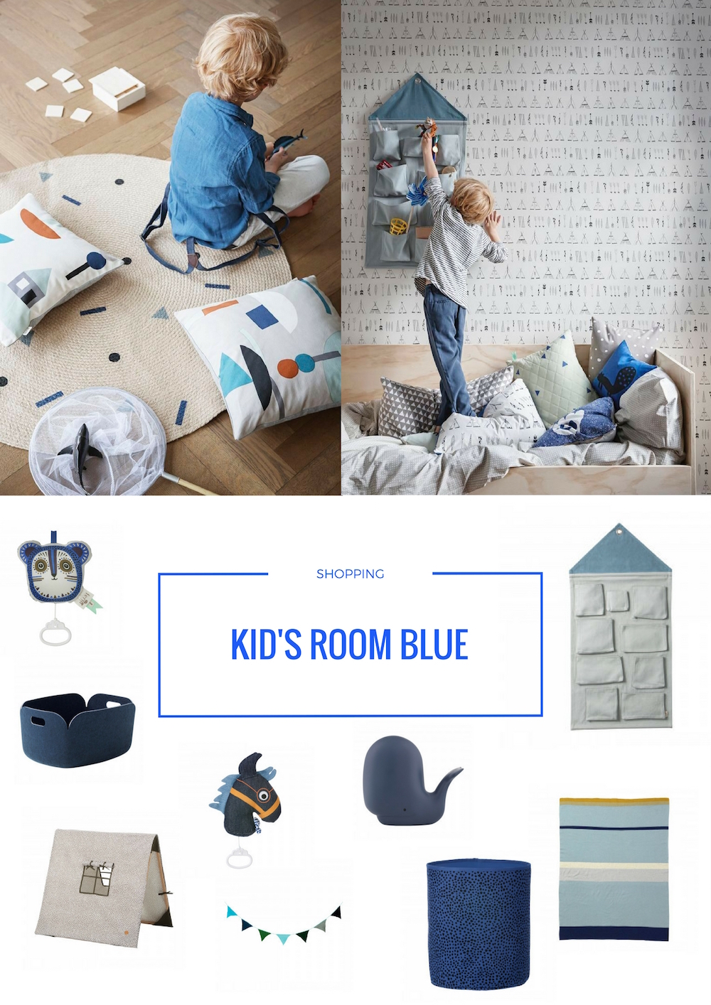 Kinderkamer Accessoires Blauw | CITYOM.nl 1