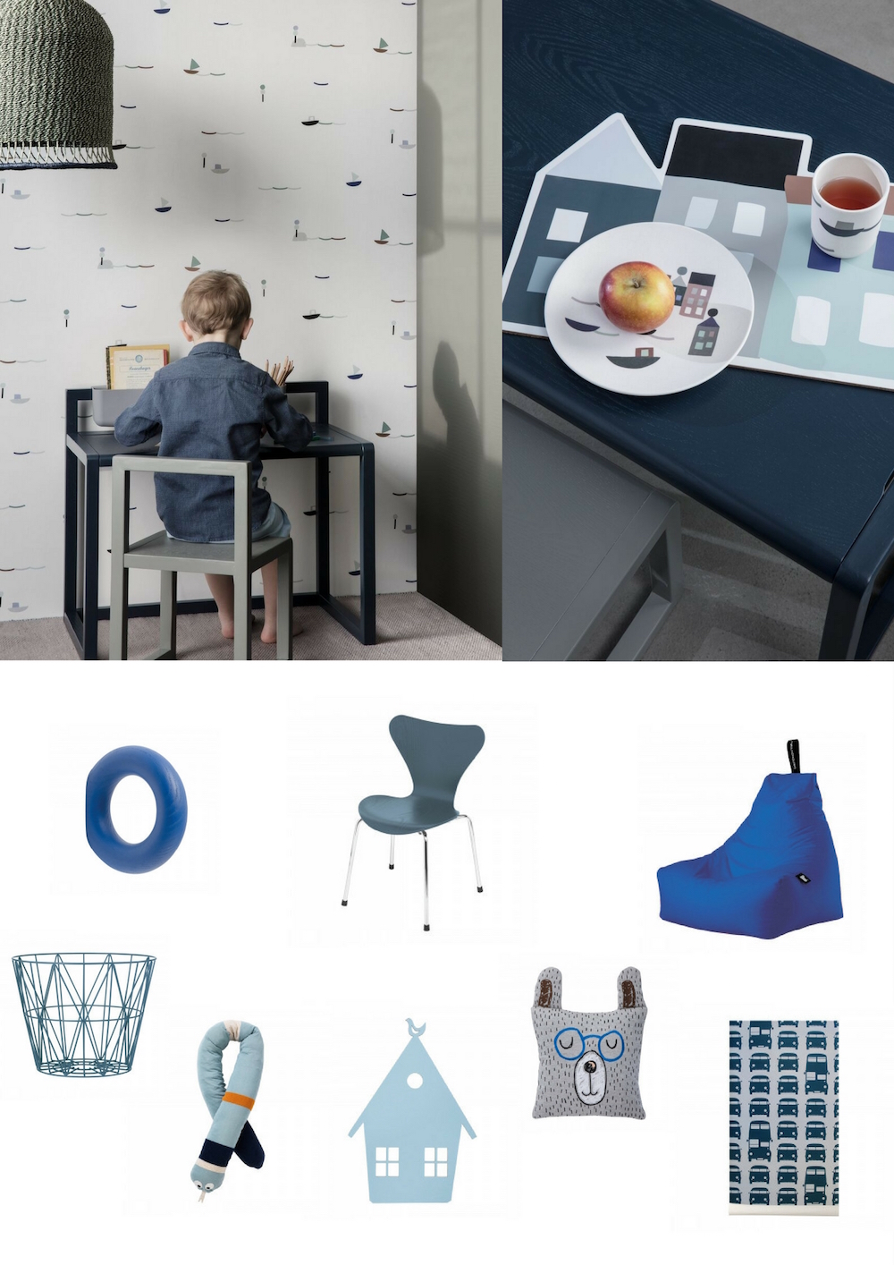 Kinderkamer Accessoires Blauw | CITYOM.nl 2