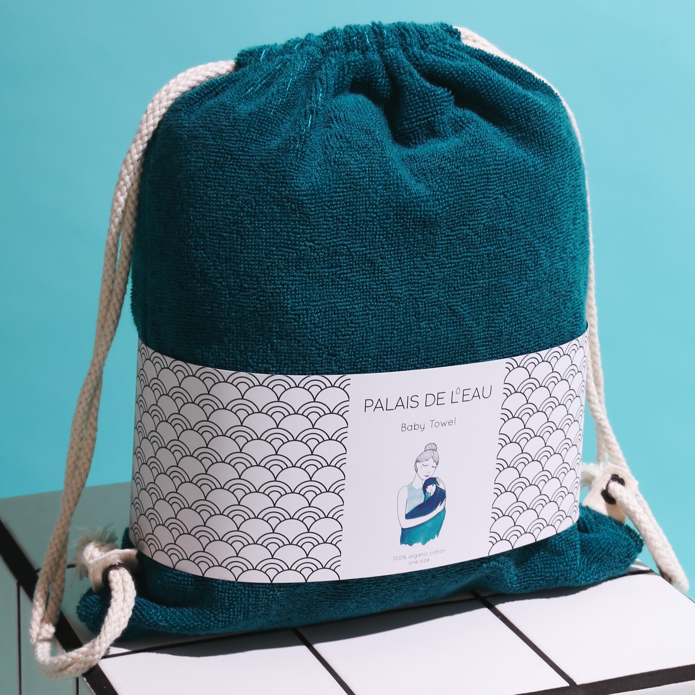 Palais de l'eau baby towel_petrol