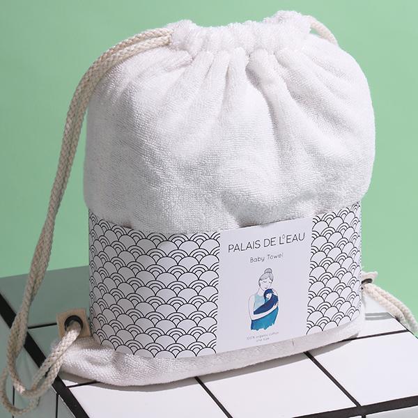 Palais de l'eau baby towel_white