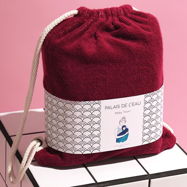 Palais de l'eau_cerise_baby towel
