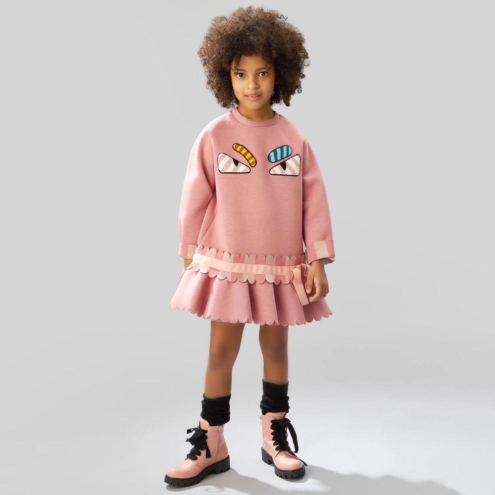 fendi-girls-Roze wintermode