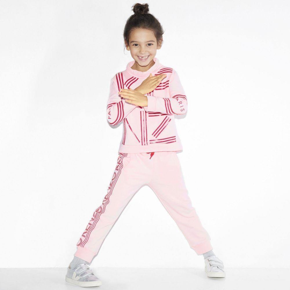 kenzo kids Roze wintermode
