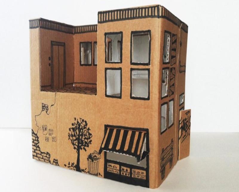 Speelgoed van karton DIY