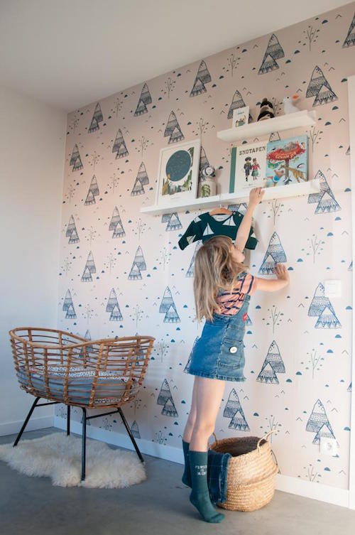 Roomblush behang kinderkamer
