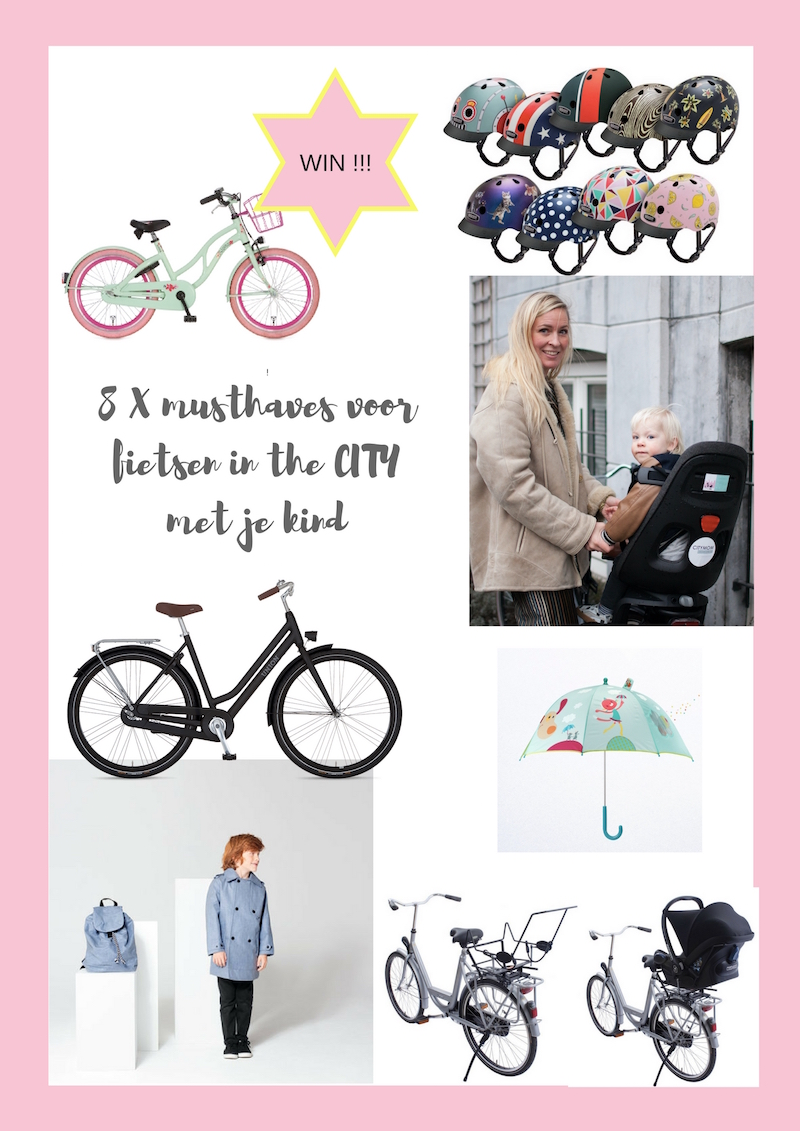 8X MUSTHAVES; FIETSEN IN THE CITY MET JE KIND