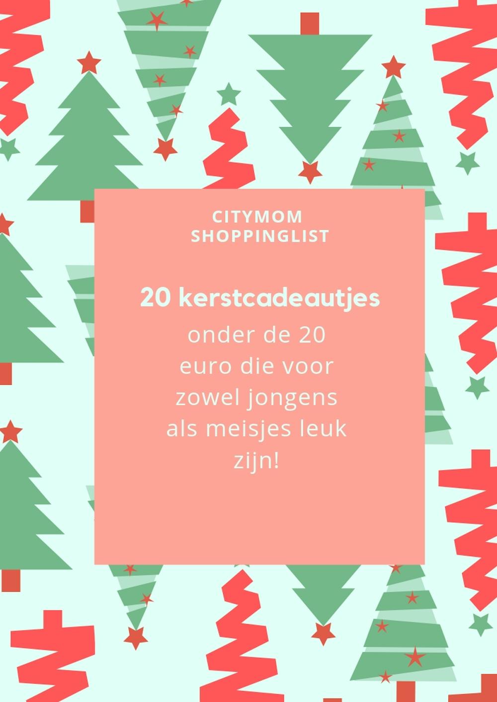 20 kerstcadeautjes onder de 20 euro