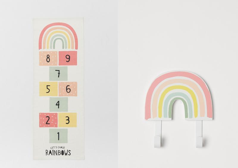 Regenboog accessoires kinderkamer