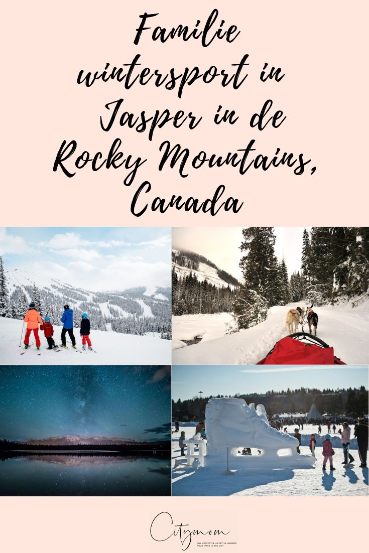 Familie wintersport in Edmonton & Jasper in de Rocky Mountains, Canada